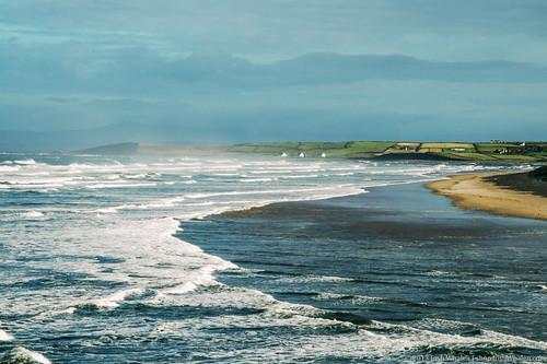 ocean blue ireland sea seascape water horizontal sunrise landscape cool europe surf surfing atlanticocean tranquil bundoran stockphotography joshwhalenphotography whalenphotography joshwhalencom