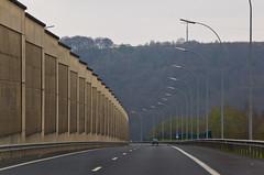 Sur l'autoroute au Luxembourg