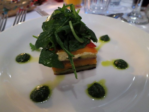 Vegetable terrine with rocket