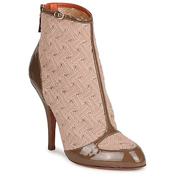 Vernice Liscia Su BEIGE-Brown Couture Boots