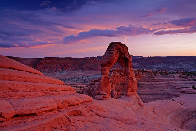 Delicate Arch: Evening lightshow