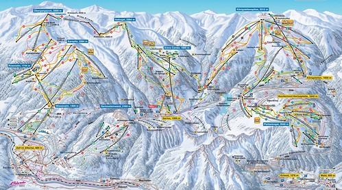 Zillertal Arena - mapa sjezdovek