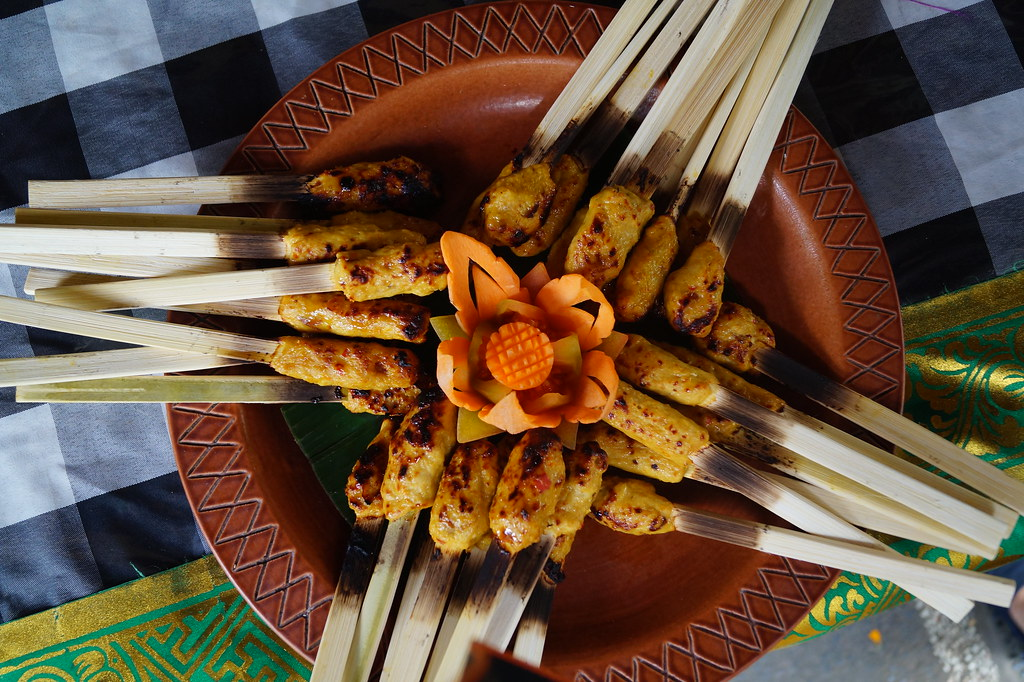 Sate Lilit, a Balinese speciality, Indonesia