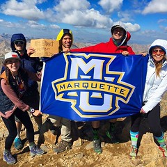 Representing Marquette atop Mt. Elbert at 14,433 feet. Thanks for the photo, Angela Schrubbe! #WeAreMarquette