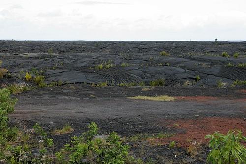Lava flow at Kalapana