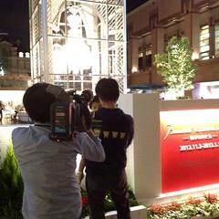 NHKに撮影されるとらちゃんと私 (2012/11/2)