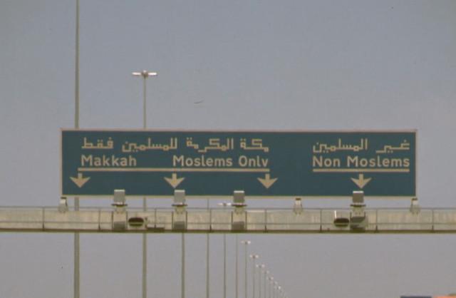 """""""Non-Muslim Road"""", Makkah"""