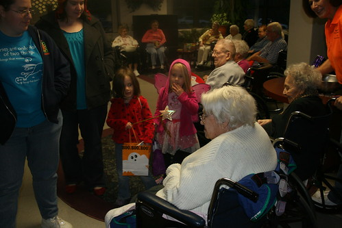 trick or treat at Great-Ma's care center