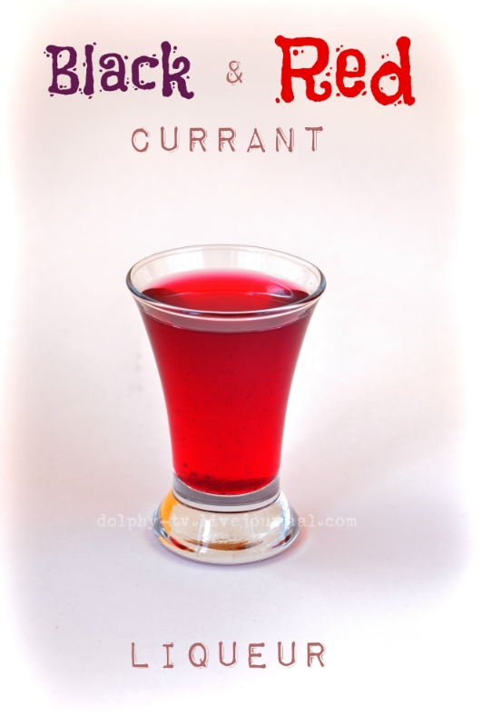 Red and Black Currant Liqueur
