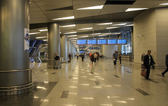 Hall d'arrivée de l'aéroport de Moscou Vnukovo