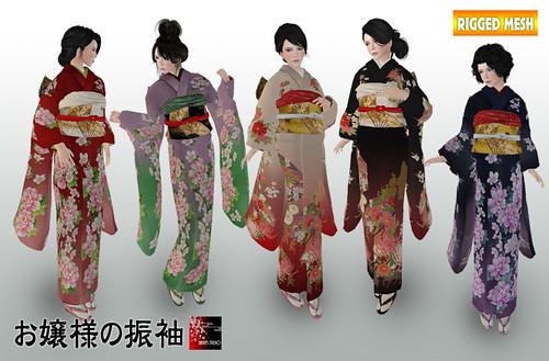 2012New Mesh Kimono(FURISODE)