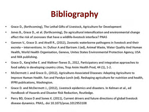 Zoonoses: The Lethal Gifts of Livestock: Bibliography slide