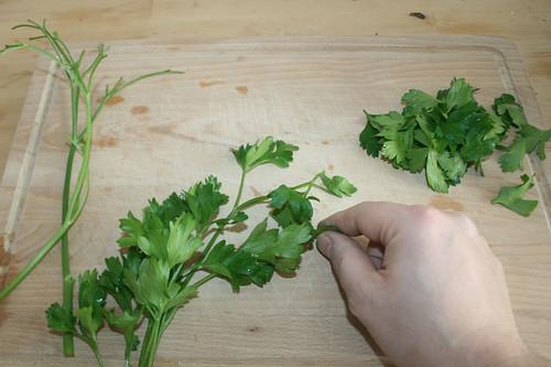 25 - Blättchen abzupfen / Pick leaves