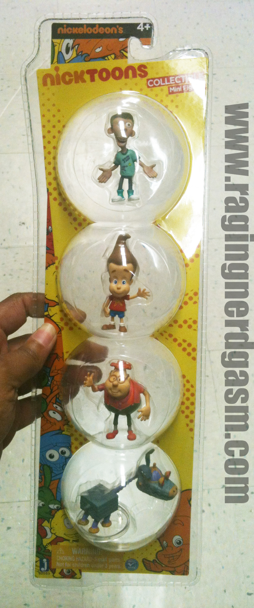 Nickelodeon's NickToons Collectible Mini Figures Jimmy Neutron 4 pack by Jazwares 001