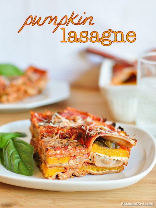 Vegetarian Pumpkin Spelt Lasagne - #FBS4Sandy