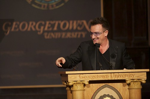 bonos speech In 2012, u2 frontman bono gave a speech at the global social enterprise initiative at georgetown university's mcdonough school of business the initiative aims to prepare current and future leaders to make responsible management decisions that create both economic and social value.
