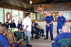 Commandant and MCPOCG meet with Sector San Juan Chief's Mess
