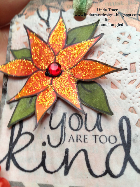 Neat and Tangled mixed media tag_closeup