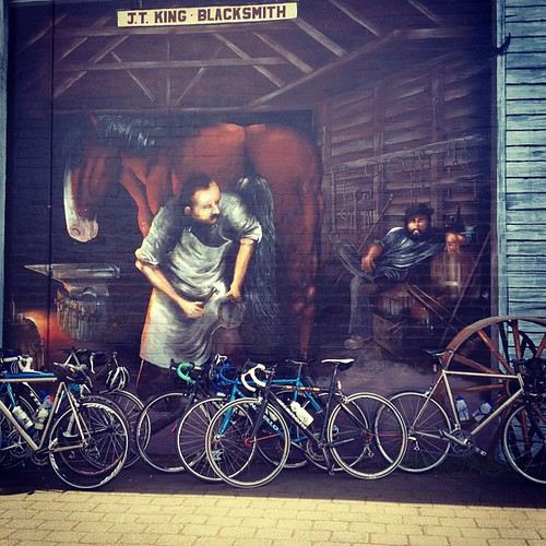 Tassie bike touring. In Sheffield - one of money murals.