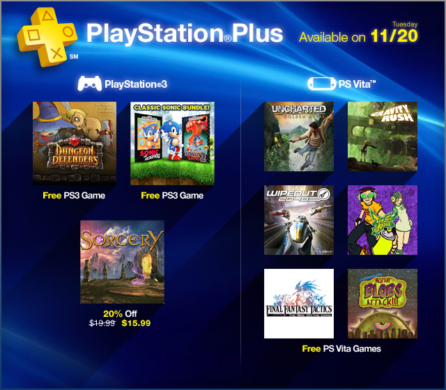 PlayStation Plus Update 11-20-2012
