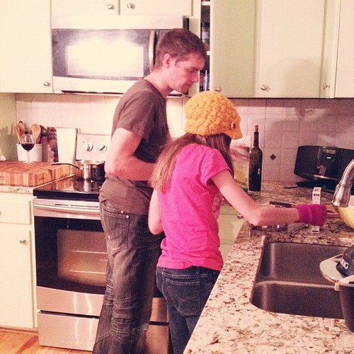 The Frenchman giving Cayla cooking lessons. #mylifeasworship #unschooling