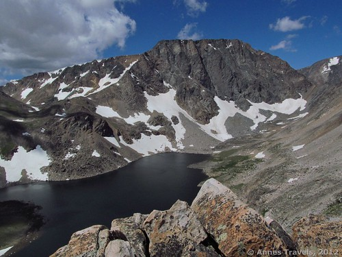 Overlooking Moon Lake from the base of Mount Rearguard, Custer National Forest, Montana