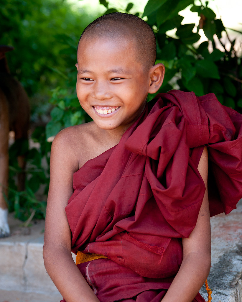 Young monk in Salay, Myanmar (Burma)