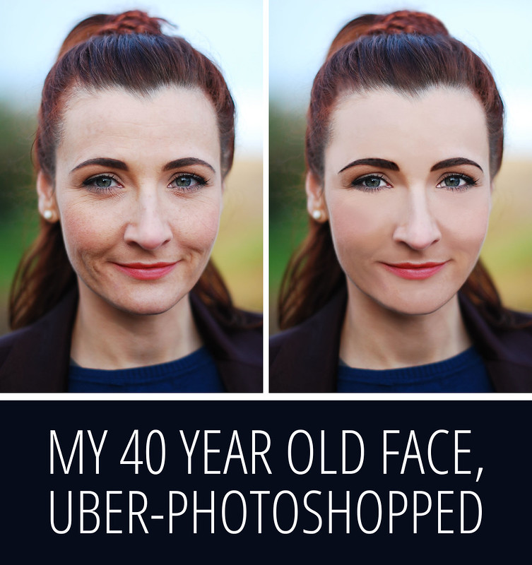 An Uber-Photoshopped 40 Year Old Face