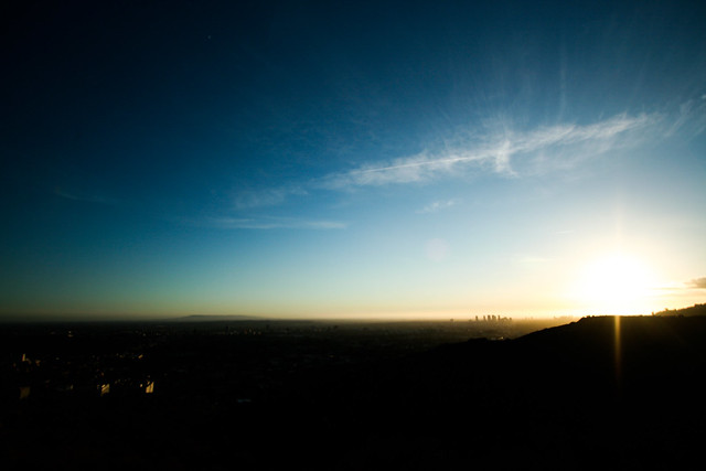 sunset at runyon canyon