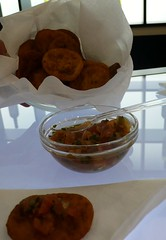Pumpkin fritters at Chile Stand