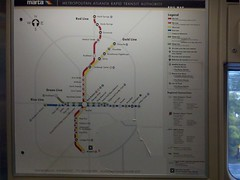 MARTA System Map inside The Railcar