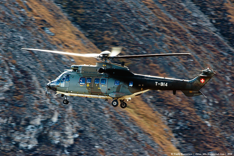 """Swiss AF Eurocopter AS532 Cougar bringing some """"VIPs"""" to AXALP"""