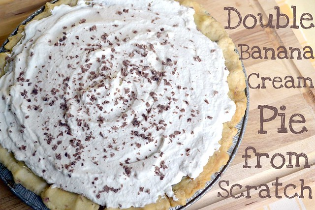 double banana cream pie from scratch