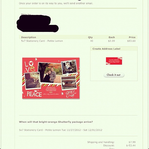Day 19 of #novemberthankful Today I am thankful that I had such great coupons so we could order out Christmas cards at a hefty discount!