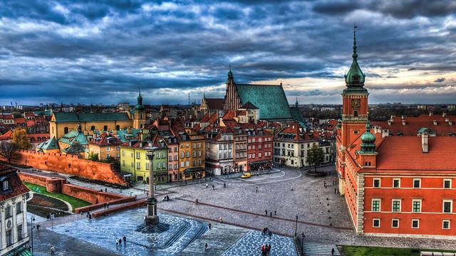 0309 - Poland, Warsaw, Plac Zamkowy W Warszawie HDR