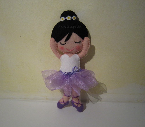 ♥♥♥ A bailarina da Roxane... by sweetfelt \ ideias em feltro