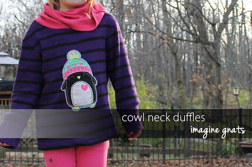 cowl neck duffle header