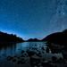 Star Trails over Jordan Pond by MG_images