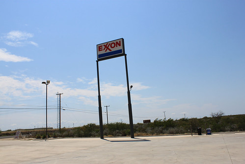 EXXON Gas station @ Amistad Lake National Recreation Area