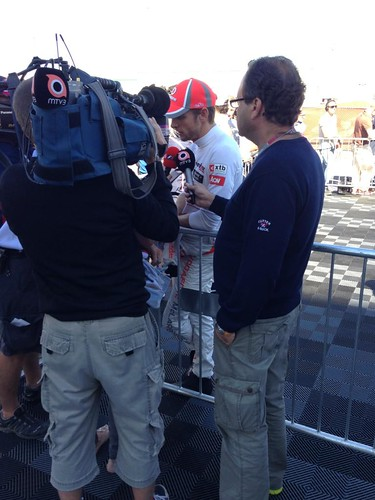 Jenson interviews with MTV3