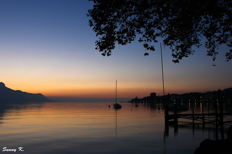 Sunset in Montreux 2