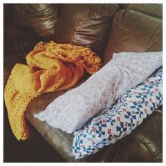 I live here now. #strep #sickday #mustardblanketofwonders #vscocam
