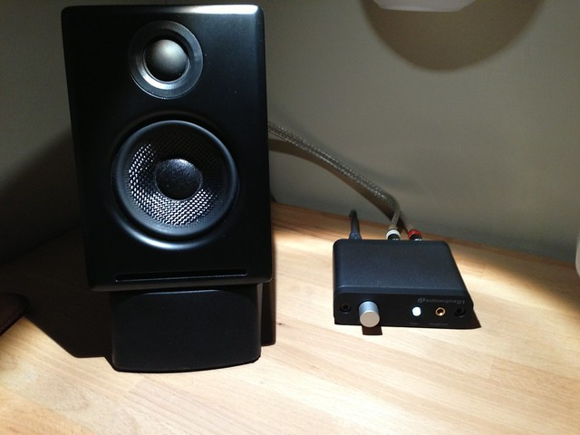 Audioengine A2 speaker and D1 DAC