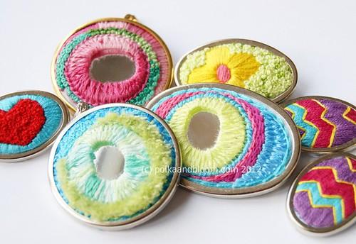 Stitched jewellery