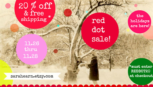 red dot sale postcard