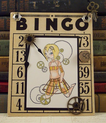 Steampunk Bingo Girl Collage