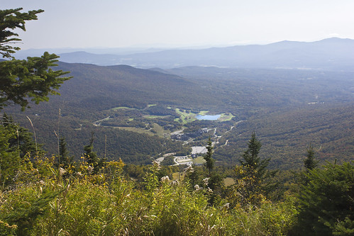 stowe vermont vt mount mansfield gondola view cliff lake spruce peak green mountains landscape