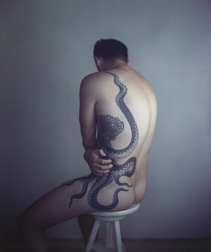 Richard Learoyd Man with Octopus Tattoo II 2011 Unique Ilfochrome