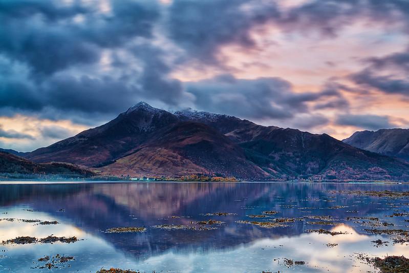 Beinn a' Bheithir Across Loch Leven
