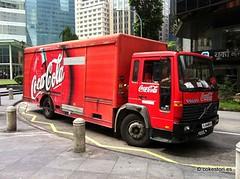 Coca-Cola truck in Singapore